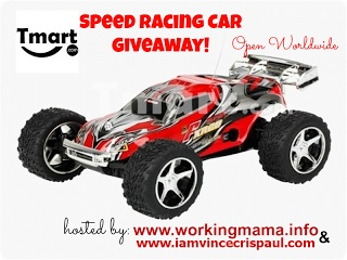speed racing car giveaway