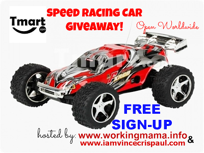 speed car racing giveaway button