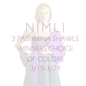 NIMLI Pashmina Shawls giveaway