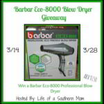 Barbar Eco-8000 Blow Dryer Giveaway